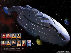 Voyager Crew of Star Trek Voyager