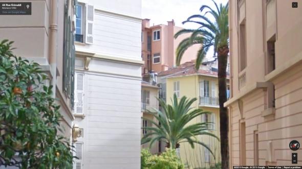 A Monaco-i Berény féle udvar belső a Rue Grimaldi 44. felől